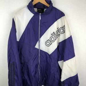 90s Vintage Adidas Windbreaker XXL PURPLE